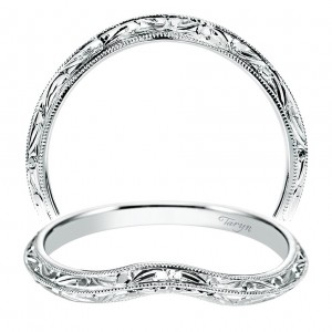 Taryn 14 Karat White Gold Curved Wedding Band TW8438W4JJJ