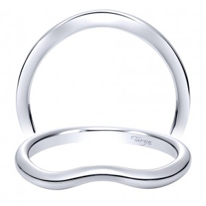 Taryn 14 Karat White Gold Curved Wedding Band TW8442W4JJJ