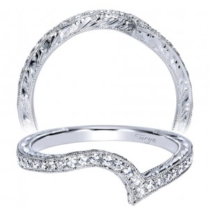 Taryn 14 Karat White Gold Curved Wedding Band TW8640W44JJ