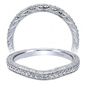 Taryn 14 Karat White Gold Curved Wedding Band TW9064W44JJ