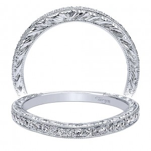 Taryn 14 Karat White Gold Curved Wedding Band TW9065W44JJ