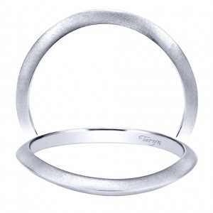 Taryn 14 Karat White Gold Curved Wedding Band TW911729R0W4JJJ