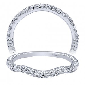 Taryn 14 Karat White Gold Matching Curved Wedding Band TW10214W44JJ