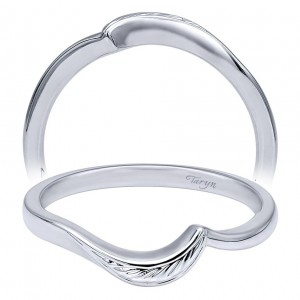 Taryn 14 Karat White Gold Matching Curved Wedding Band TW10253W4JJJ