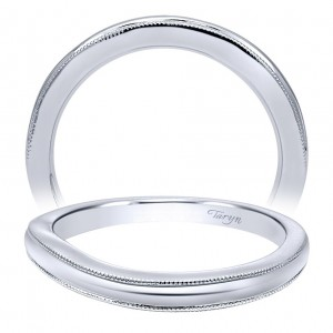 Taryn 14 Karat White Gold Matching Curved Wedding Band TW10260W4JJJ