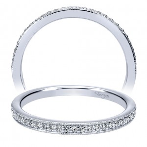 Taryn 14 Karat White Gold Matching Straight Wedding Band TW11716R0W44JJ