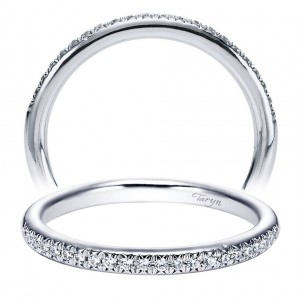 Taryn 14 Karat White Gold Matching Straight Wedding Band TW5351W44JJ