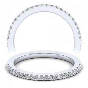 Taryn 14 Karat White Gold Matching Straight Wedding Band TW6419O4W44JJ