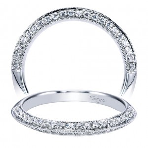 Taryn 14 Karat White Gold Round Straight Wedding Band TW4148W44JJ