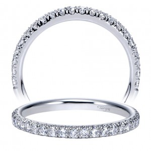 Taryn 14 Karat White Gold Round Straight Wedding Band TW8270W44JJ