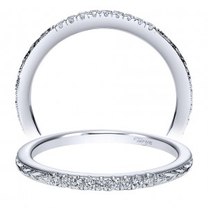 Taryn 14 Karat White Gold Round Straight Wedding Band TW8635W44JJ