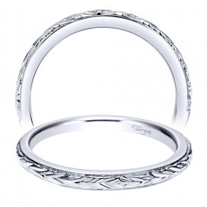 Taryn 14 Karat White Gold Round Straight Wedding Band TW8691W4JJJ