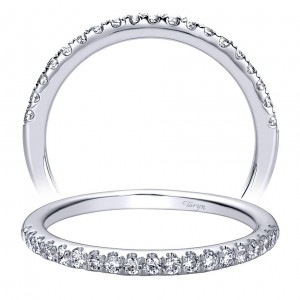 Taryn 14 Karat White Gold Round Straight Wedding Band TW9319W44JJ