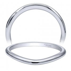 Taryn 14 Karat White Gold Straight Wedding Band TW10498W4JJJ
