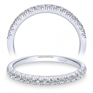 Taryn 14 Karat White Gold Straight Wedding Band TW10907W44JJ