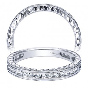 Taryn 14 Karat White Gold Straight Wedding Band TW4312W44JJ