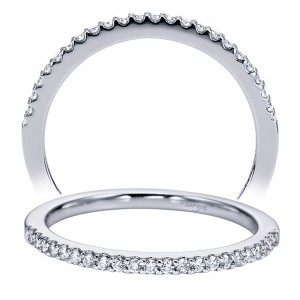 Taryn 14 Karat White Gold Straight Wedding Band TW6555W44JJ