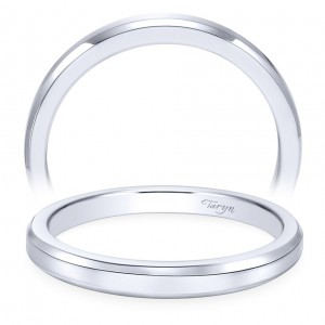 Taryn 14 Karat White Gold Straight Wedding Band TW6591W4JJJ