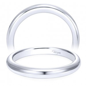 Taryn 14 Karat White Gold Straight Wedding Band TW6601W4JJJ
