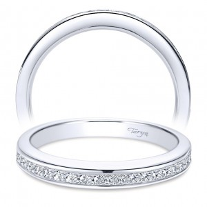 Taryn 14 Karat White Gold Straight Wedding Band TW6616W44JJ