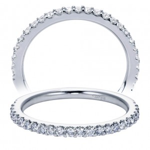 Taryn 14 Karat White Gold Straight Wedding Band TW6675W44JJ