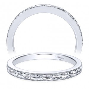 Taryn 14 Karat White Gold Straight Wedding Band TW7223W4JJJ