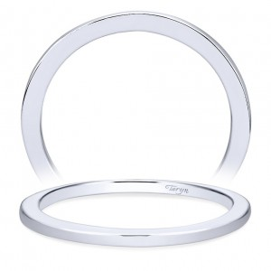 Taryn 14 Karat White Gold Straight Wedding Band TW7268W4JJJ