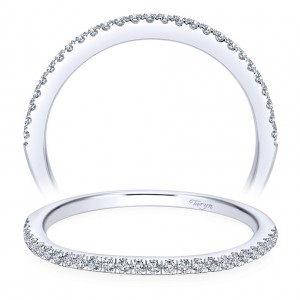 Taryn 14 Karat White Gold Straight Wedding Band TW7729W44JJ