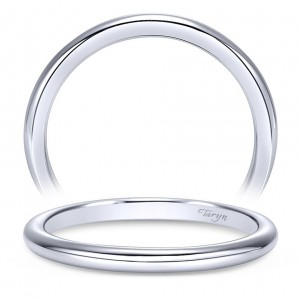 Taryn 14 Karat White Gold Straight Wedding Band TW7894W4JJJ