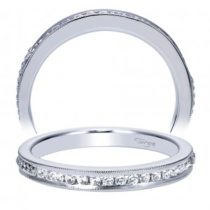 Taryn 14 Karat White Gold Straight Wedding Band TW8007W44JJ