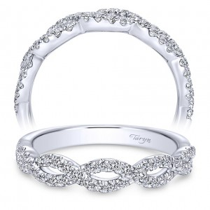 Taryn 14 Karat White Gold Straight Wedding Band TW8044W44JJ