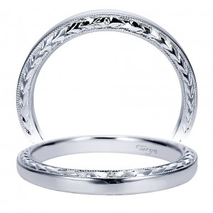 Taryn 14 Karat White Gold Straight Wedding Band TW8046W4JJJ