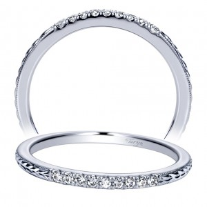 Taryn 14 Karat White Gold Straight Wedding Band TW8636W44JJ