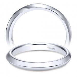 Taryn 14 Karat White Gold Straight Wedding Band TW8685W4JJJ