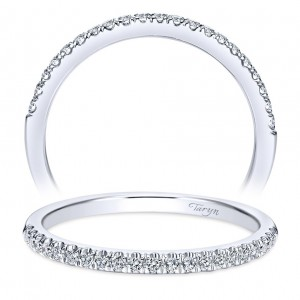 Taryn 14 Karat White Gold Straight Wedding Band TW8686W44JJ