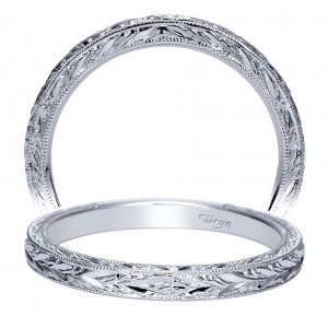 Taryn 14 Karat White Gold Straight Wedding Band TW8690W4JJJ