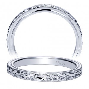Taryn 14 Karat White Gold Straight Wedding Band TW8693W4JJJ
