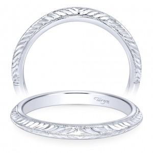 Taryn 14 Karat White Gold Straight Wedding Band TW8709W4JJJ