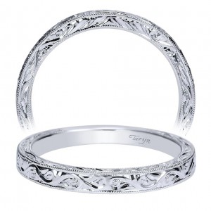 Taryn 14 Karat White Gold Straight Wedding Band TW8844W4JJJ