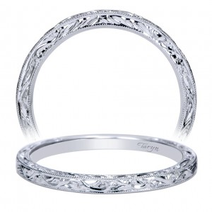Taryn 14 Karat White Gold Straight Wedding Band TW8845W4JJJ