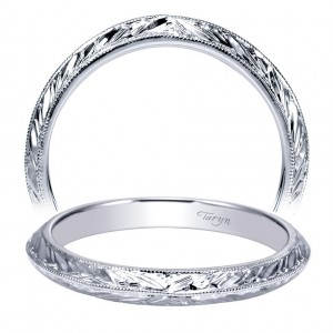 Taryn 14 Karat White Gold Straight Wedding Band TW8846W4JJJ