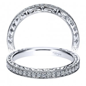 Taryn 14 Karat White Gold Straight Wedding Band TW8869W44JJ
