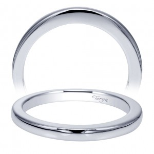 Taryn 14 Karat White Gold Straight Wedding Band TW9057W4JJJ