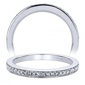 Taryn 14 Karat White Gold Straight Wedding Band TW9360W44JJ