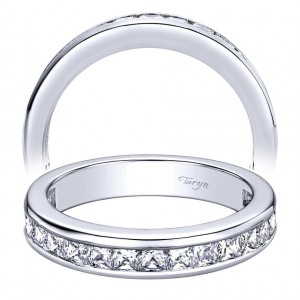 Taryn 14 Karat White Gold Straight Wedding Band TW9437W44JJ