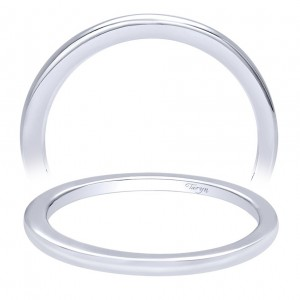 Taryn 14 Karat White Gold Straight Wedding Band TW9458W4JJJ