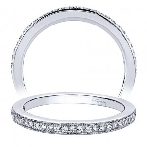 Taryn 14 Karat White Gold Straight Wedding Band TW9502W44JJ