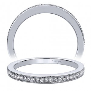 Taryn 14 Karat White Gold Straight Wedding Band TW9509W44JJ