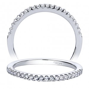 Taryn 14 Karat White Gold Straight Wedding Band TW9514W44JJ