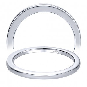 Taryn 14 Karat White Gold Straight Wedding Band TW9790W4JJJ